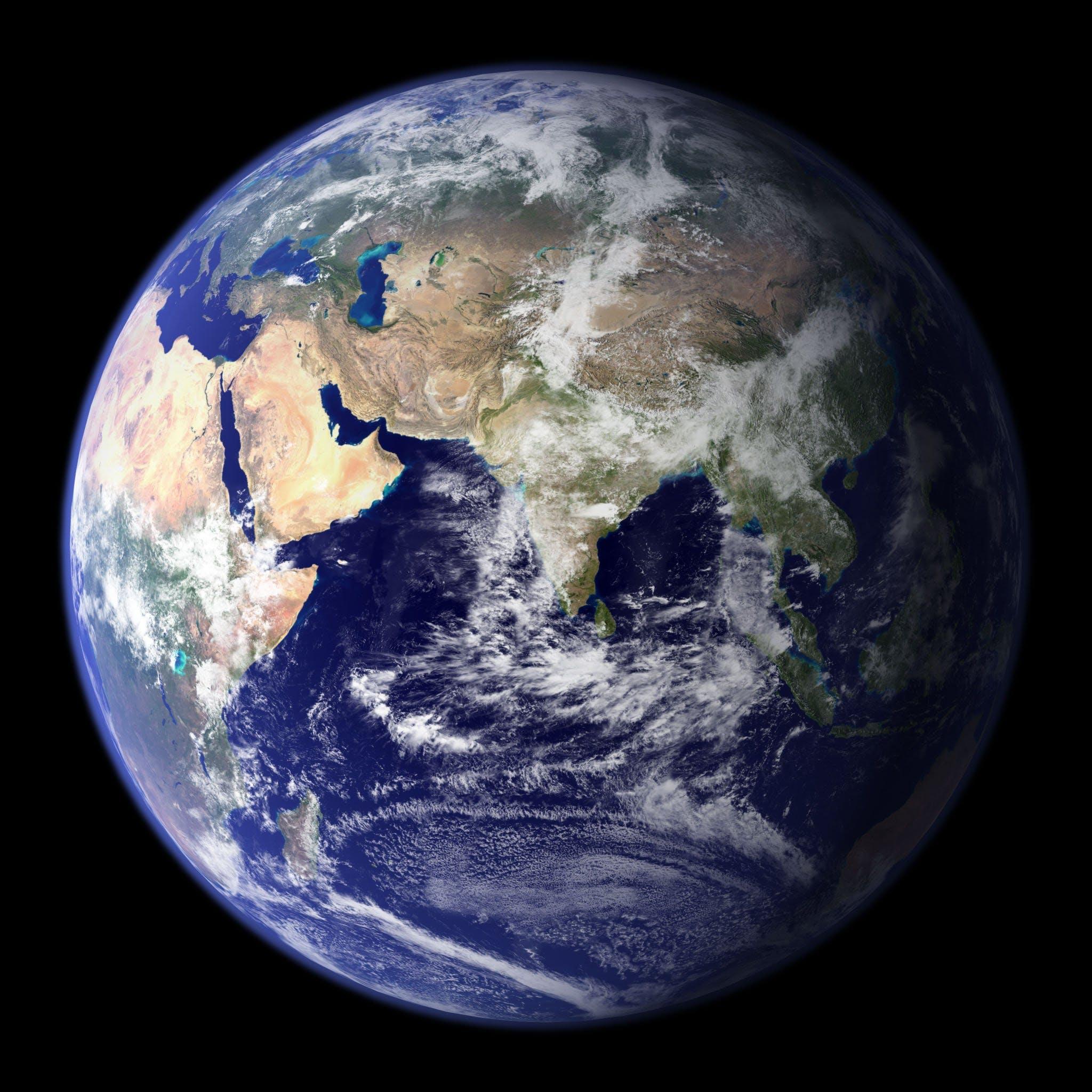 Základová fotografie zdarma na téma modrá planeta, svět, vesmír, země