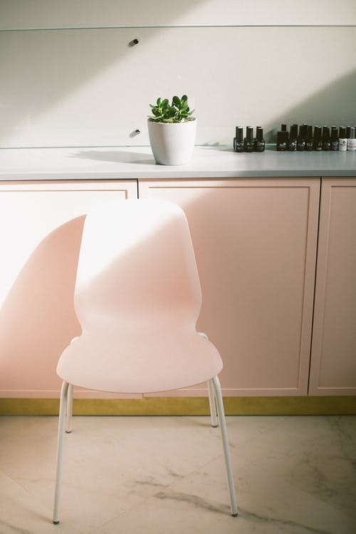 Minimalist interior of modern nail salon