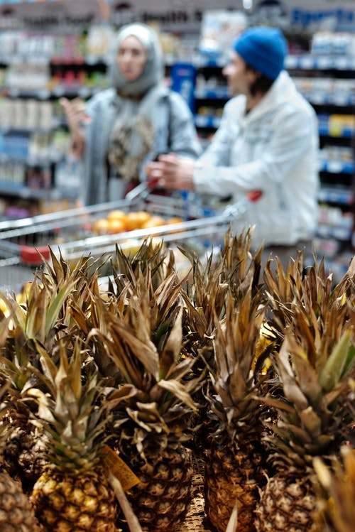 Pineapples at a Supermarket