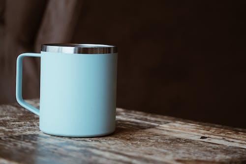 Mug on Brown Wooden Table
