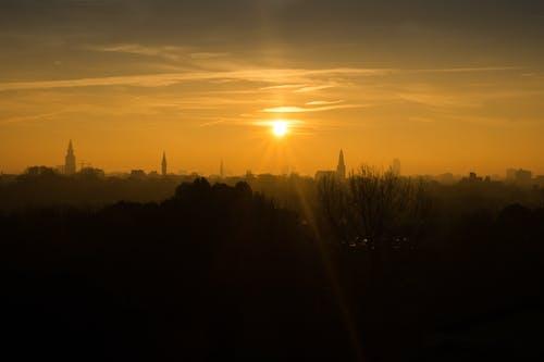 Darmowe zdjęcie z galerii z pomarańcza, wschód słońca, zachód słońca