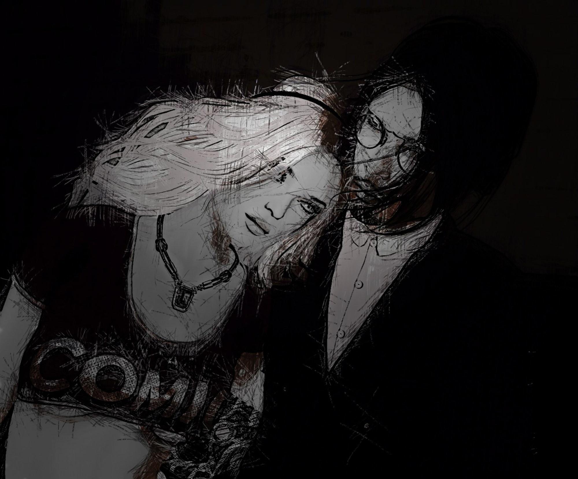 86+ Gambar Abstrak Hitam Putih Terlihat Keren