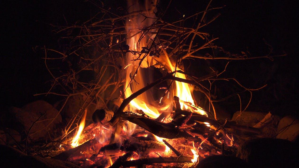 камин, костер, огонь