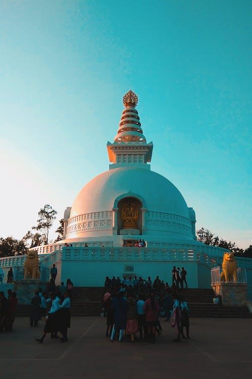 Foto profissional grátis de chandan suman, fotografia de arquitetura, fundo verde-azulado, templo