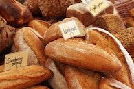 bread, food, brown