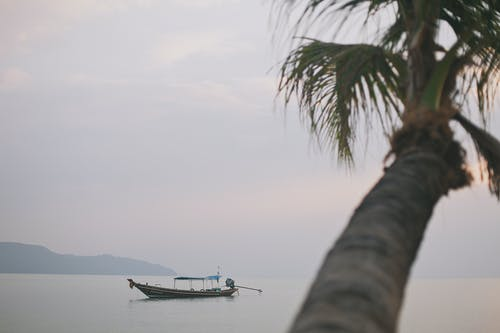 White Boat on Sea