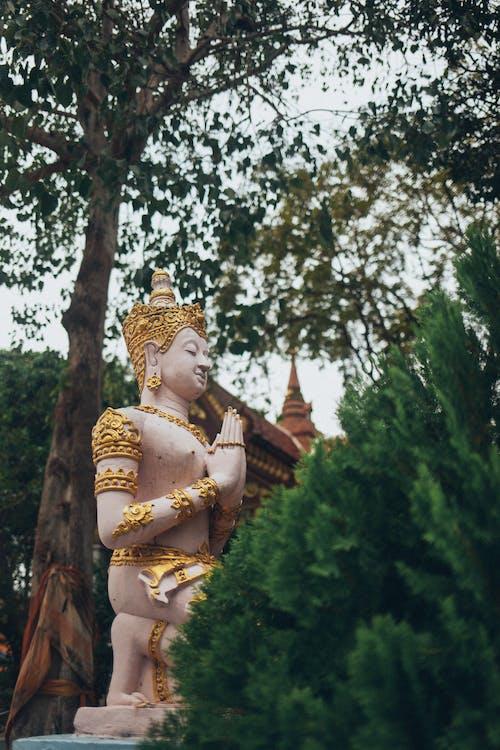 Gold Buddha Statue Near Green Trees