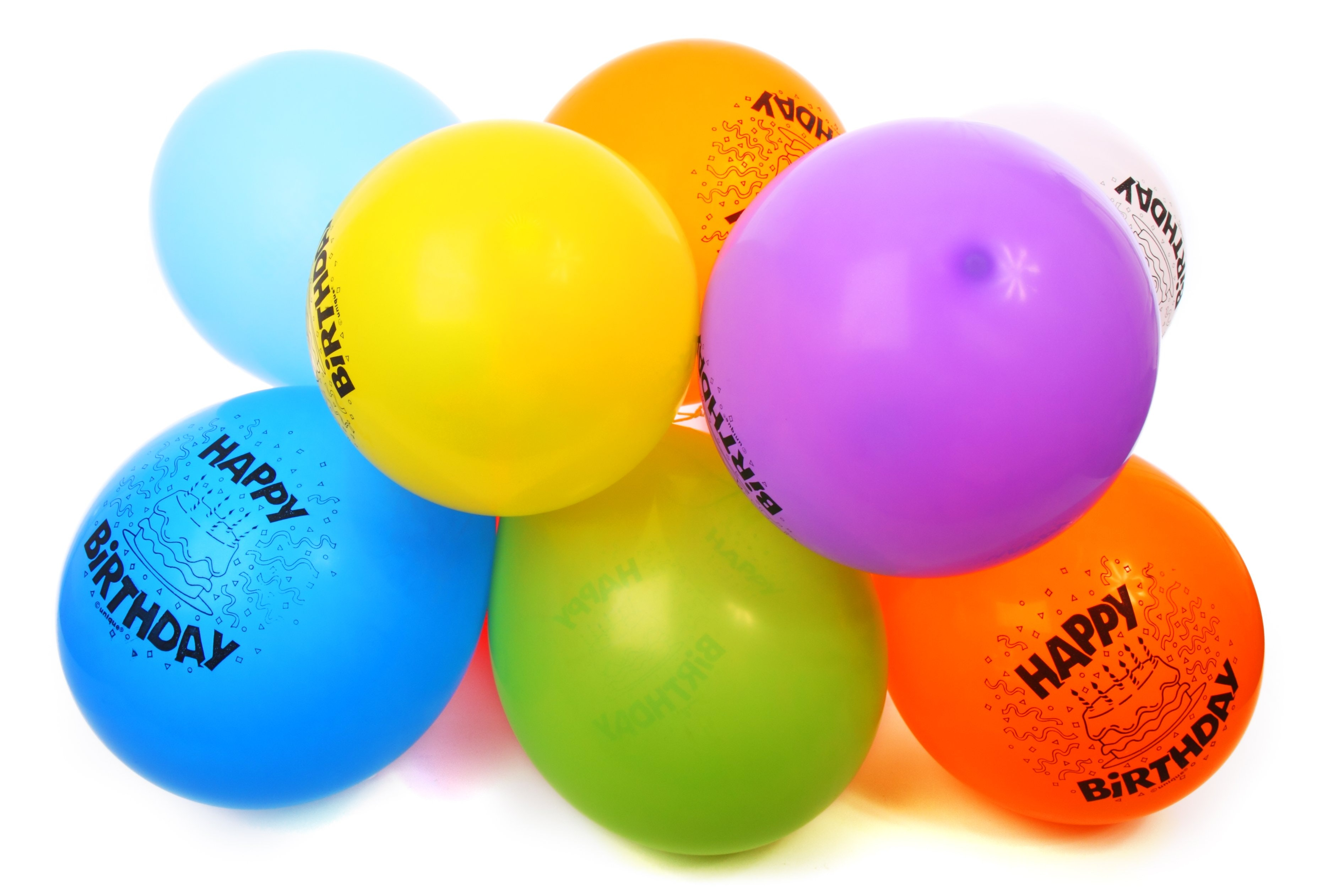 Assorted Color Birthday Balloons Free Stock Photo