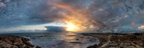 deniz, deniz gün batımı, derin deniz, derin gökyüzü içeren Ücretsiz stok fotoğraf