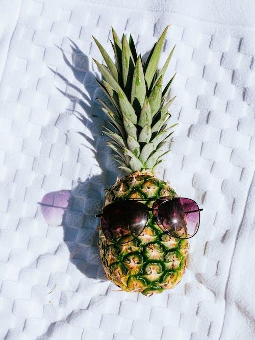 Pineapple Fruit on White Textile