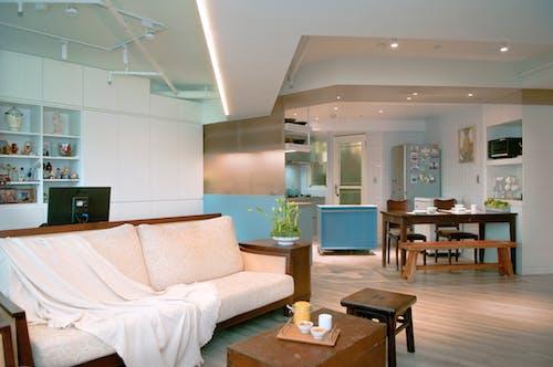 Cozy living room in studio apartment