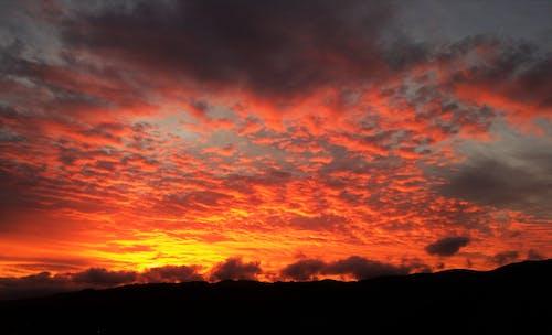 açık, akşam, Akşam gökyüzü, akşam Güneşi içeren Ücretsiz stok fotoğraf
