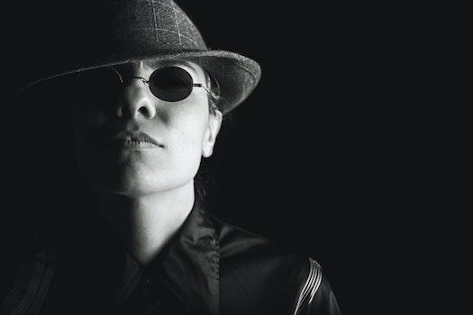 Free stock photo of person, sunglasses, dark, hat