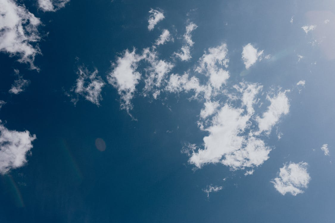 Blue sky with thin white clouds