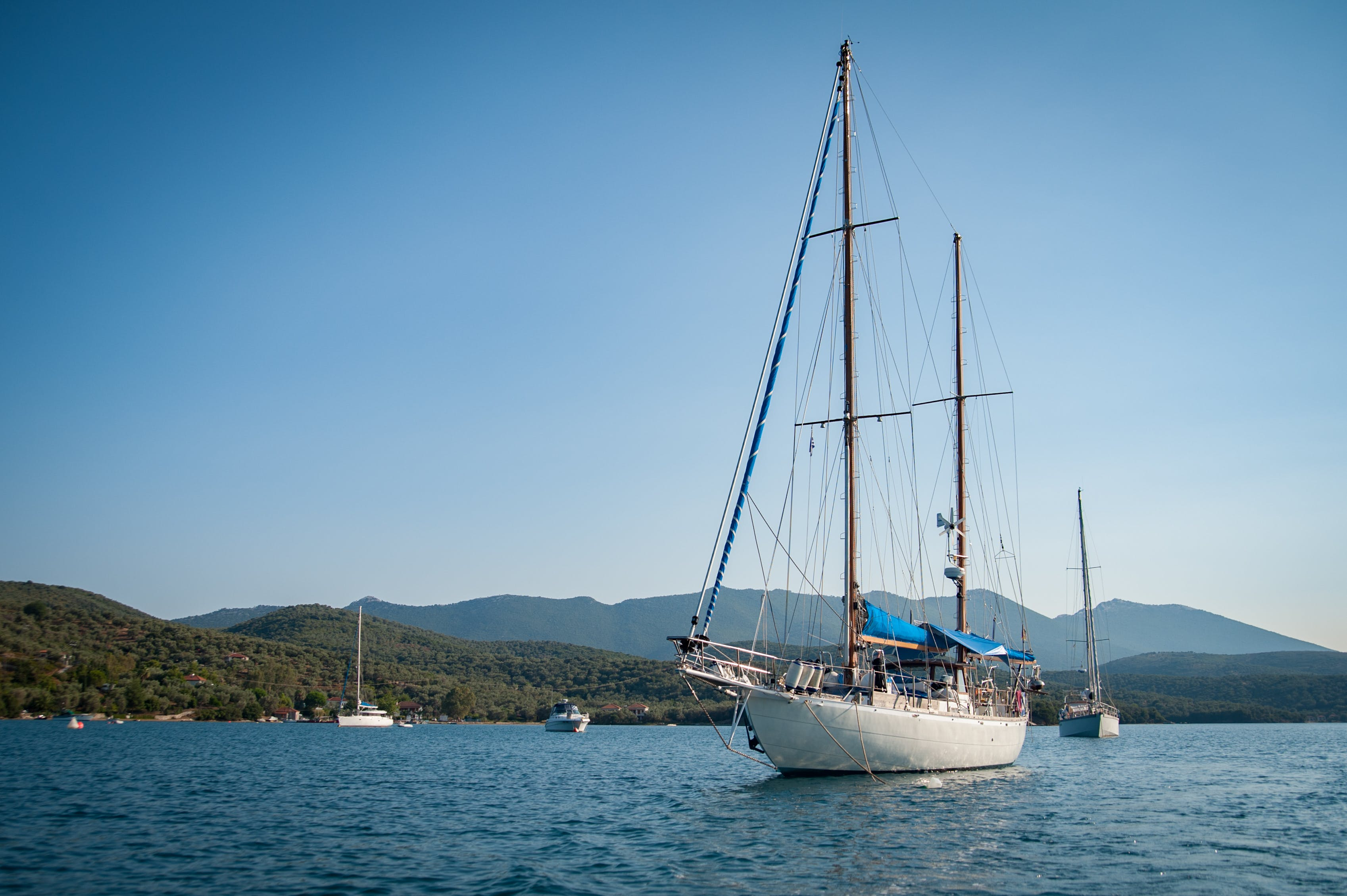 Gratis lagerfoto af båd, blå himmel, Grækenland, hav