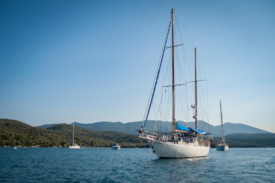 blue sky, boat, greece