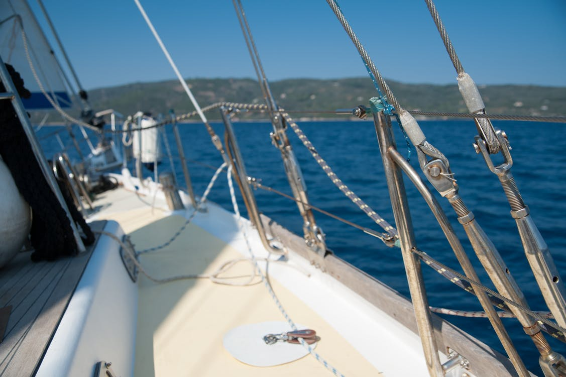 grecja, jacht, lina