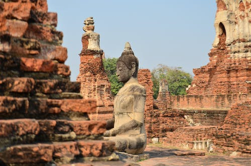 벽돌, 부처, 불교, 사원의 무료 스톡 사진