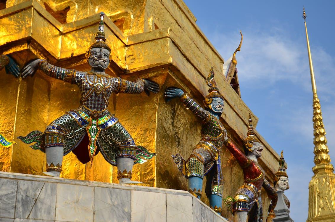 Asie, Bangkok, chrám