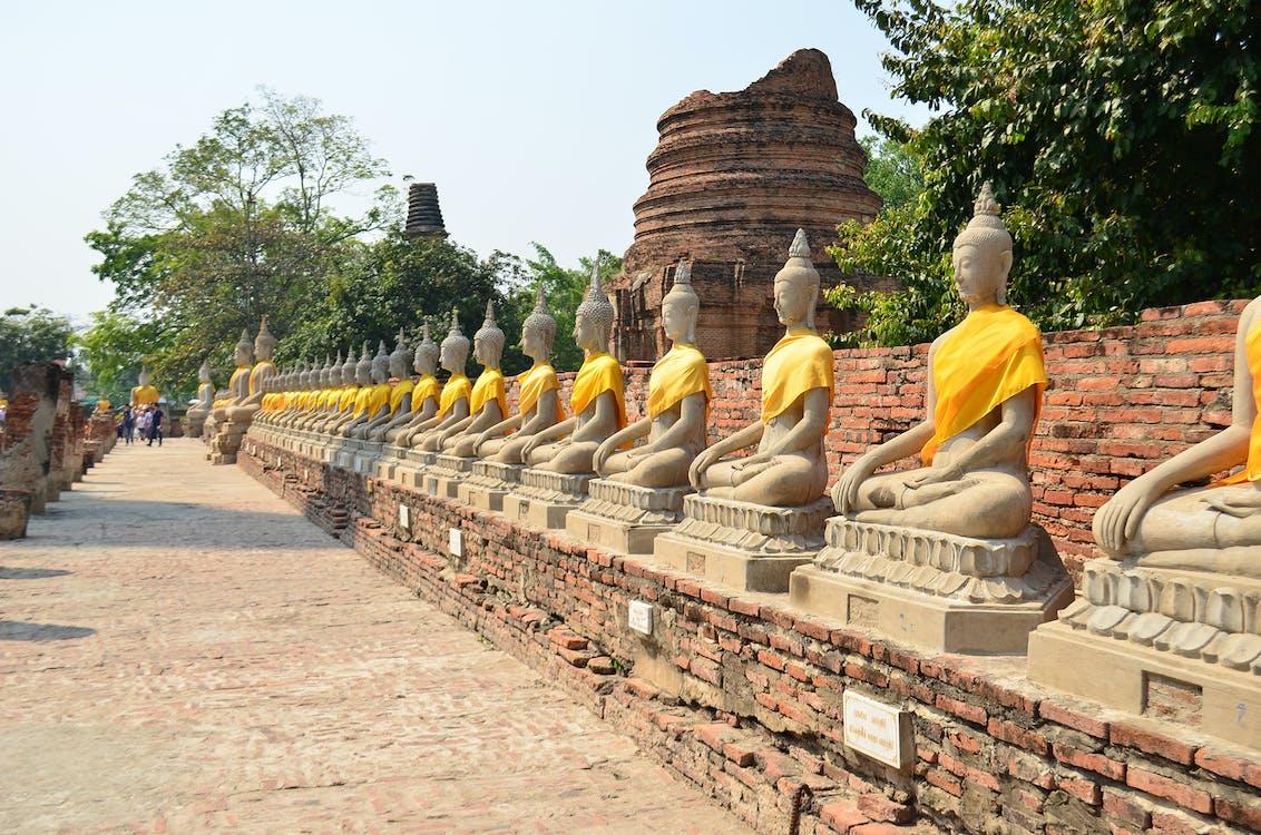 Asien, ayutthaya, buddha