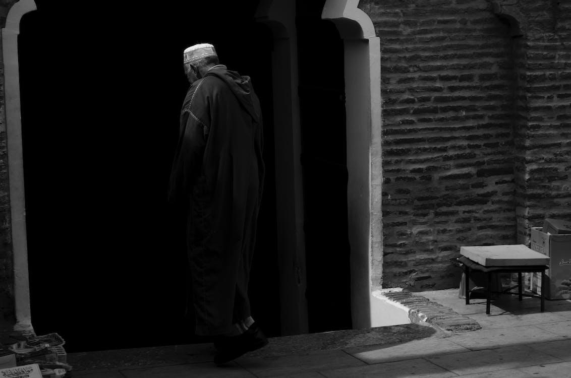 černobílá, islám, maroko