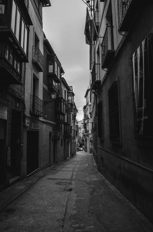 Free stock photo of black and white, europe, spain, street