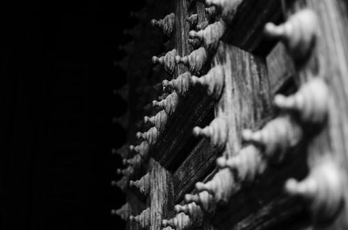Free stock photo of black and white, door, europe, medieval