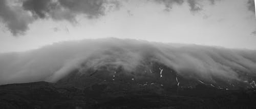 Free stock photo of beatiful landscape, black and white, hill