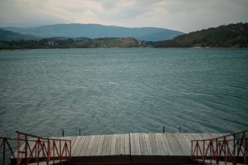 Free stock photo of blue, lake, pier