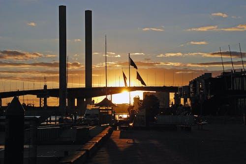 Ilmainen kuvapankkikuva tunnisteilla auringonlasku, australia, bolten silta, liput