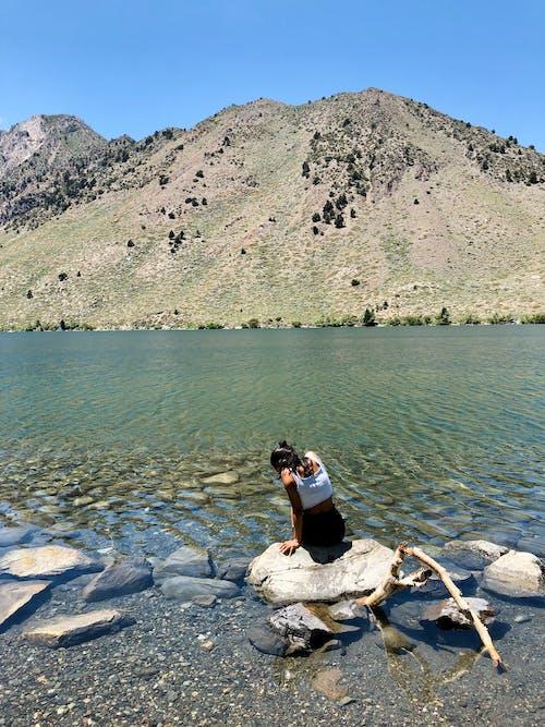 Free stock photo of california, girl, landscape