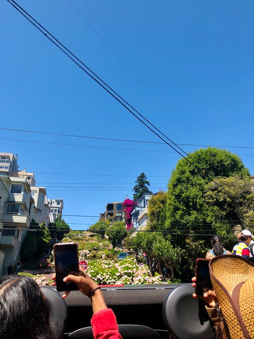 Free stock photo of california, girls, Lombard street