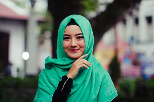 Woman Wearing Green Hijab Smiling