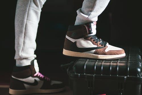 Person Wearing Air Jordan 1