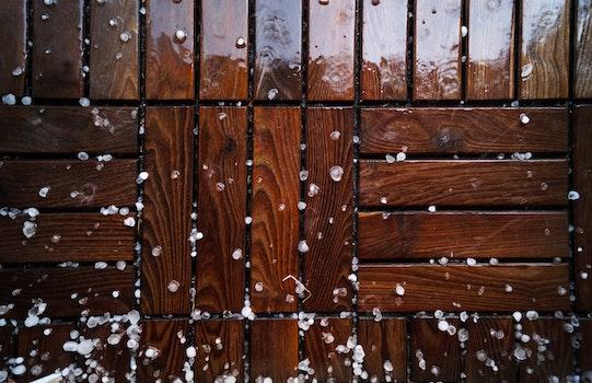 Free stock photo of wood, texture, ice, rain