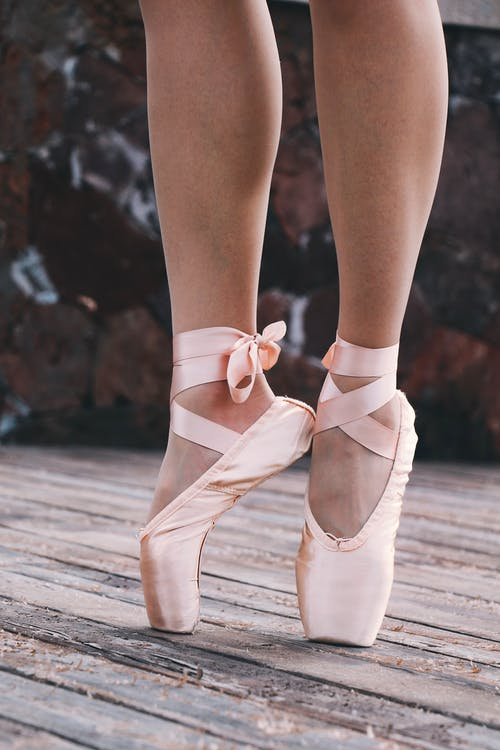 Person Wearing Ballet Shoes