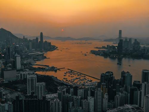 Foto profissional grátis de aerofotografia, alvorecer, amanhecer