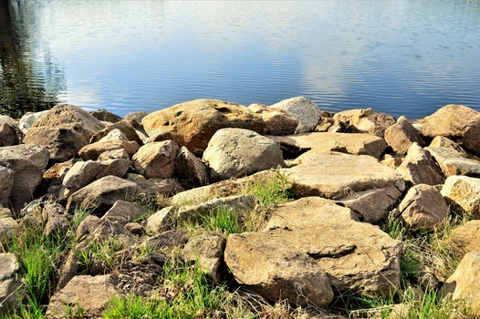 Free stock photo of sunny, water, rocks, outside