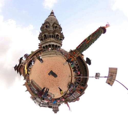 Immagine gratuita di cultura, durbar square, foto a 360 gradi, krishna mandir