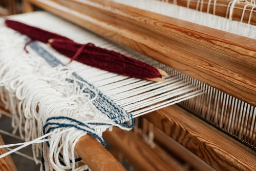 Close-Up Photo of Hand Loom