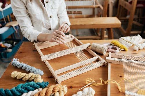 Photo of Person Weaving