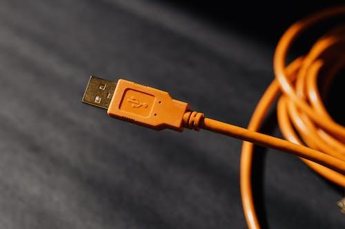 Orange Usb Cable