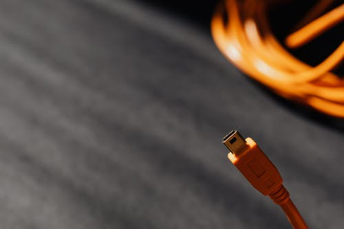 Close-Up Photo of Usb Cable