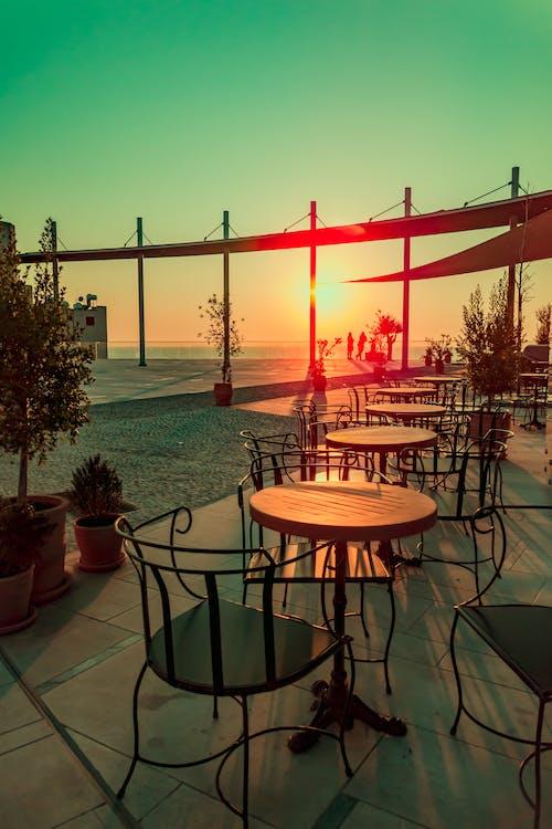 Základová fotografie zdarma na téma hluboká obloha, Kypr, obloha, pouliční káva
