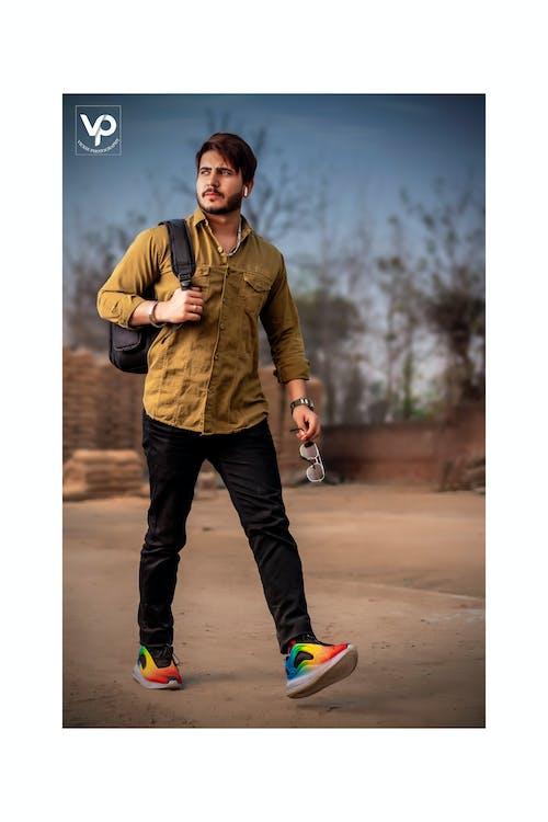 Free stock photo of indian boy, man walking, portrait photography