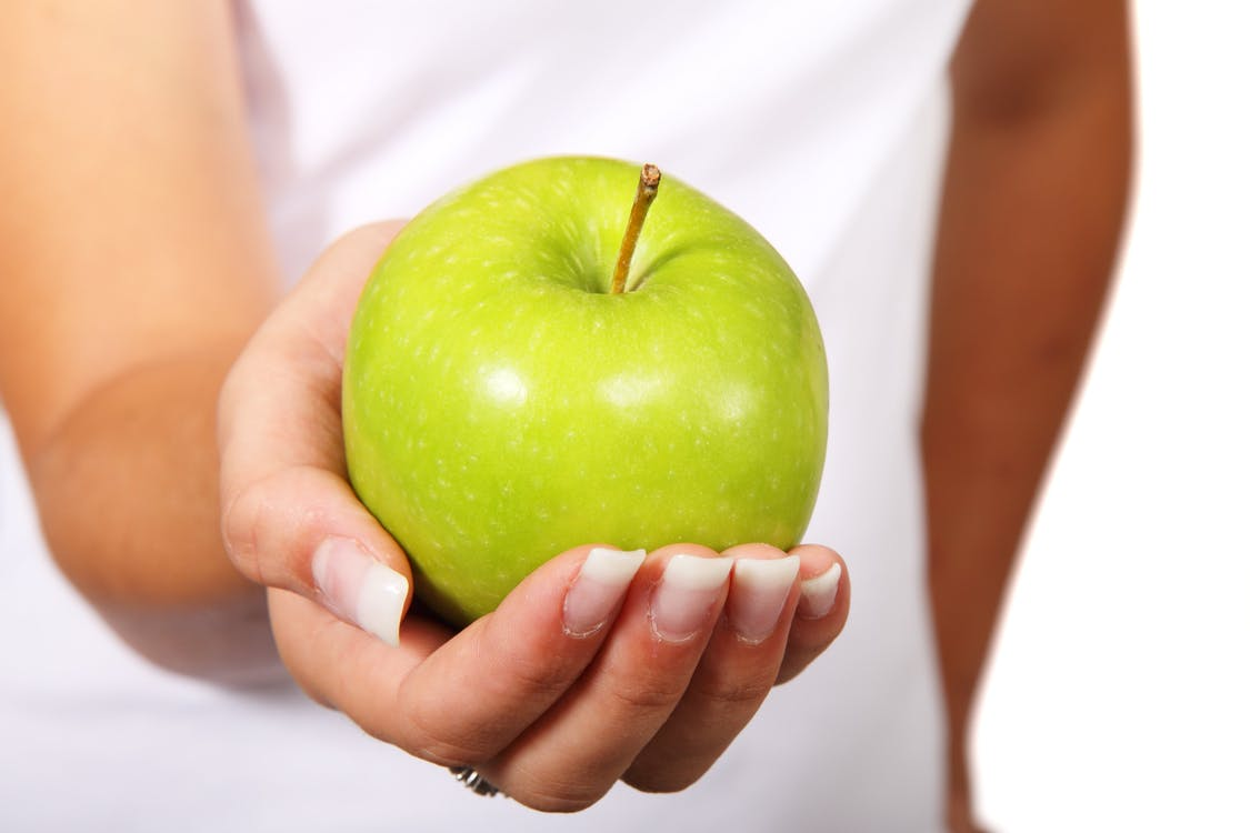 건강한, 과일, 녹색
