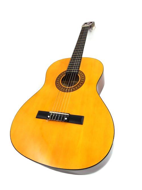 ahşap, gitar, klasik gitar, müzik aleti içeren Ücretsiz stok fotoğraf