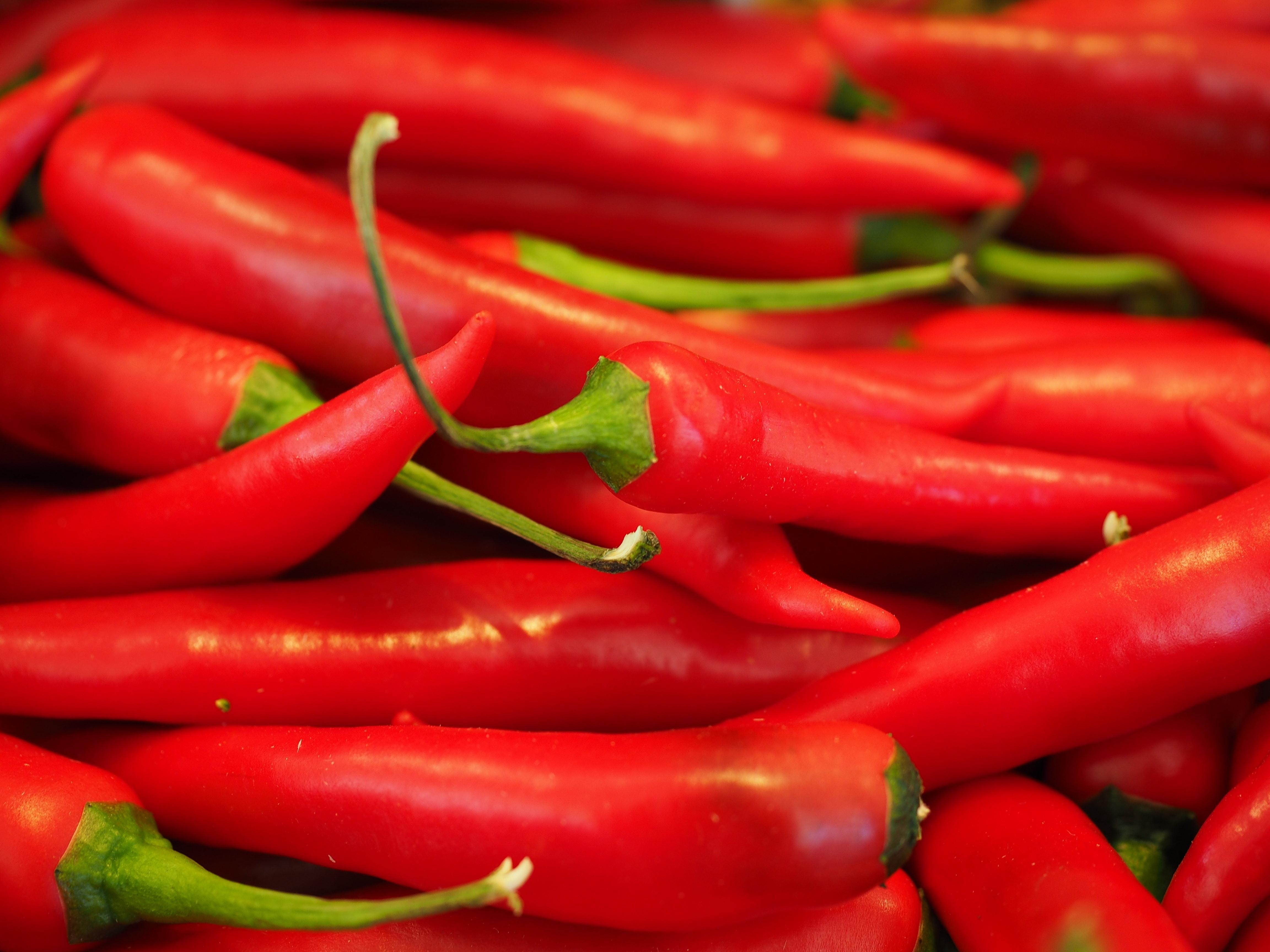 Red Chili Pepper Near Green Chili Pepper 183 Free Stock Photo
