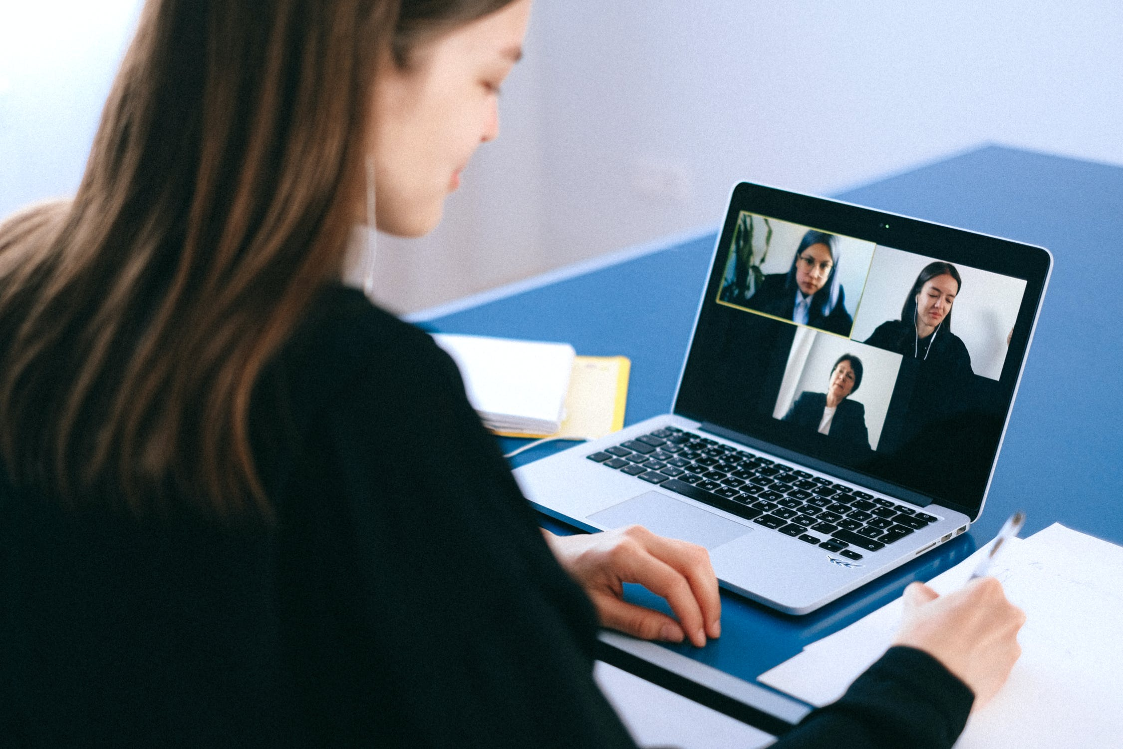 People on a video call - Photo by Anna Shvets from Pexels