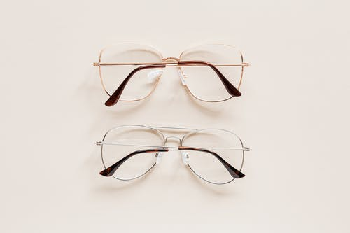 Pair of elegant glasses with optical lenses